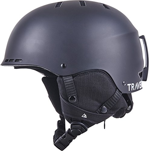 Traverse Vigilis 2-in-1 Convertible Ski & Snowboard / Bike & Skate Helmet with 10 vents, Matte Obsidian, Large/X-large (56-60cm)