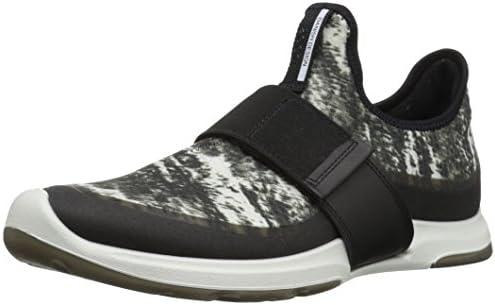 ECCO Women's Women's Biom AMRAP Strap Fashion Sneaker, Black