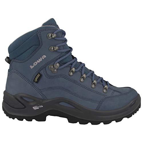 Lowa Women's Renegade GTX Mid Hiking Boot (6.5 B US, Gray/Blue) - Lowa Womens Lady Gtx