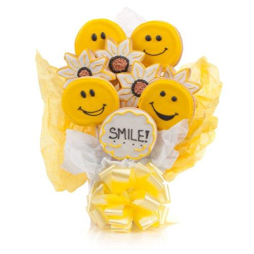 Smile! Cookie Bouquet- 9 Pc (Happy Birthday Cookie Bouquet)