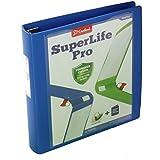 Cardinal SuperLife Pro Easy Open ClearVue Locking Slant-D Ring Binder, 1.5 Inch, Blue (54420)