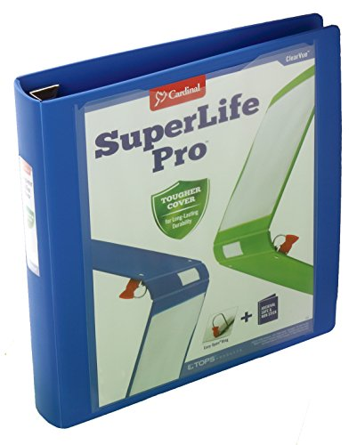Cardinal SuperLife Pro Easy Open ClearVue Locking Slant-D Ring Binder, 1.5 Inch, Blue (54420) by Cardinal (Image #2)'