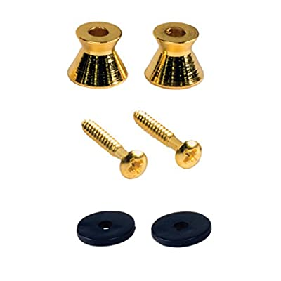 Seismic Audio SAGA62-2Pack 2 Pack of Gold Guitar Strap Buttons for electric guitars, Universal fit by Seismic Audio Speakers, Inc.