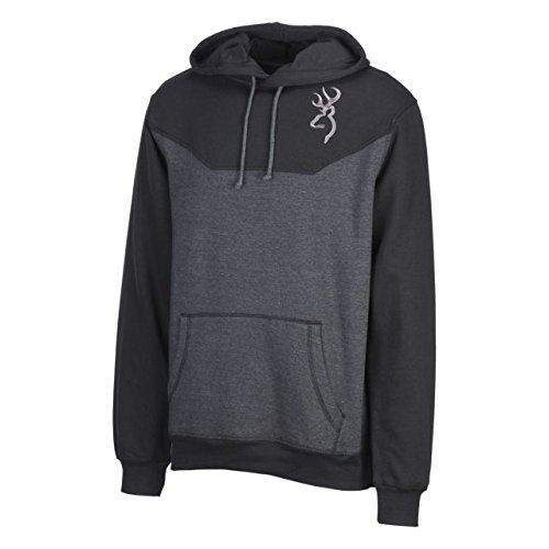 Browning Men's Hoodie, Cohos, Heather Black, Size X-Large from Browning