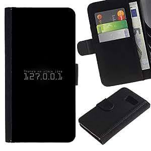 NEECELL GIFT forCITY // Billetera de cuero Caso Cubierta de protección Carcasa / Leather Wallet Case for Sony Xperia Z3 Compact // No hay lugar como 127.0.0.1 Hacker