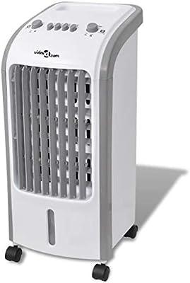 vidaXL Enfriador Aire Portátil 80W 4 L 270 m³/h Aire Acondicionado ...