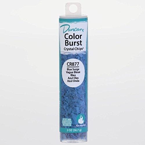 Duncan CR877 Color Burst Crystal Chips, Blue Surge, Add to Ceramic Glaze for Unique Effects After Kiln Firing