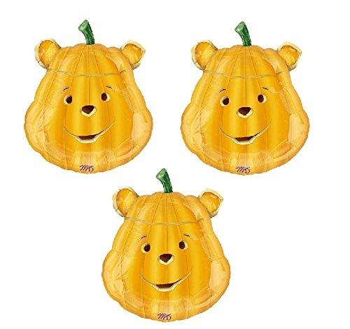 Jumbo Winnie the Pooh Halloween Pumpkin Balloons (3 Pack) -