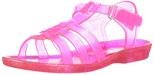 Carter's Girls' Lexi Glitter Open Toe Jelly Sandal, Pink, 10 M US Toddler - Jelly Water Shoe