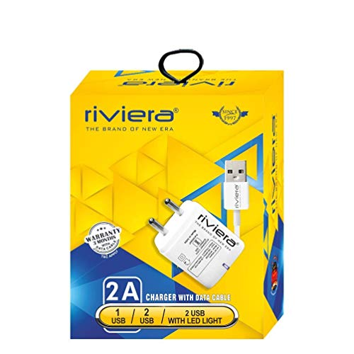 riviera v8 wall charger with data cable  class v8   White