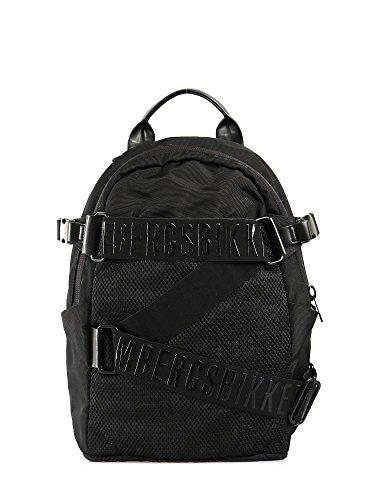 Bikkembergs Zaino Unisex Zip logato Tecno Black
