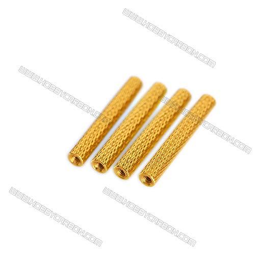 Hockus Accessories 350pcs M3x5.0x25mm Aluminum Standoff Spacer Column knurled Alloy Stud Nuts RC Multirotors Anodized - (Color: Orange)