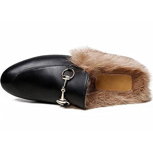 60be9a3f4484f LaRosa Women's Mules Horsebit Slippers Flat Slip-on Shoes 80%OFF ...