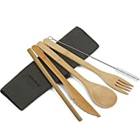 Artmeer Travel Serving Bamboo Cutlery Set for Outdoor