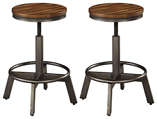 Ashley Furniture Signature Design - Torjin Stool - Set of 2 - Industrial Style - Two-tone Brown/Gray