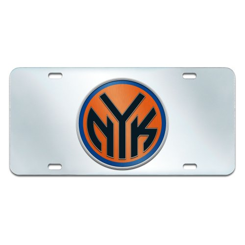 Fanmats NBA New York Knicks Plastic License Plate (Inlaid) by Fanmats
