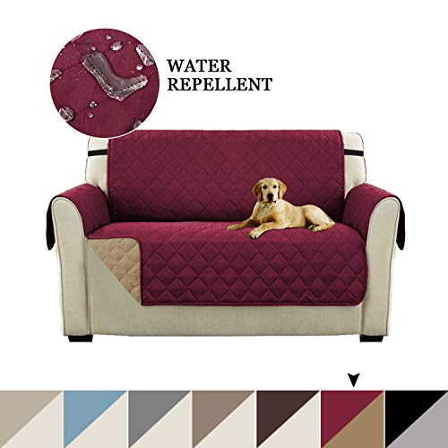 - Slip Resistant Loveseat Slipcover Protector Pet Covers for Couches and Sofas, Seat Width Up to 46