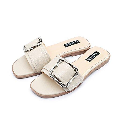 donna infradito grande bianca estivi taglia WMM Sandali sandali zw4xxqB