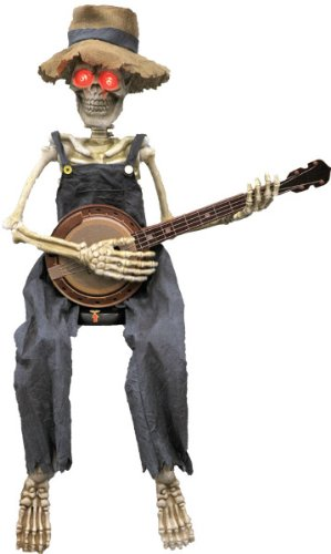 Halloween Prop: Skeleton Playing Banjo *** Product Description: Unique Animated 40