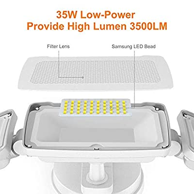 LEPOWER Dusk to Dawn LED Security Lights Outdoor, Super Bright Flood Light Outdoor