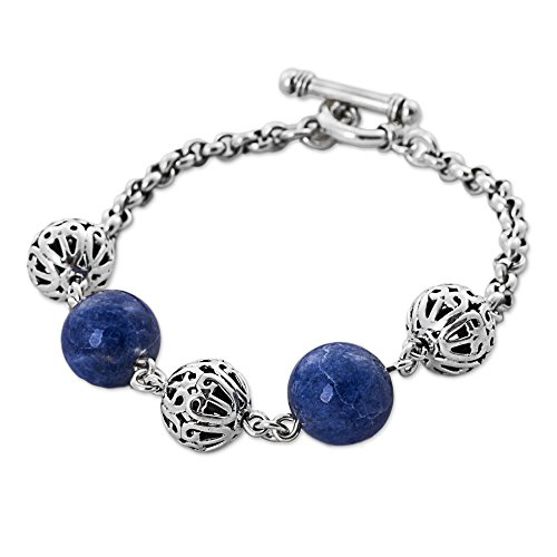 NOVICA .925 Sterling Silver Beaded Bracelets, 7.75