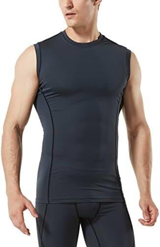 Tesla Men's Cool Dry Compression Muscle Tank Baselayer Sleeveless R15 / MUA05