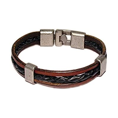 AUTHENTIC HANDMADE Leather Bracelet, Men Women Wristbands Braided Bangle Craft Multi [SKU003073]