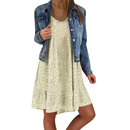 (Respctful✿Women's Summer Dresses, Tropical Printed Spaghetti Strap Swing Midi Beach Dress with Pockets Light)