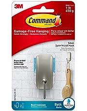 Command Hand Towel Bar, Satin Nickel, 1-Towel Bar (BATH41-SN-ES)