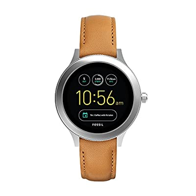 Fossil Q Women's Gen 3 Venture Stainless Steel and Leather Smartwatch, Color: Silver-Tone, Brown (Model: FTW6007) by Fossil Connected Watches Child Code