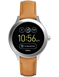 Q Women's Gen 3 Venture Stainless Steel and Leather Smartwatch, Color: Silver-Tone, Brown (Model: FTW6007)