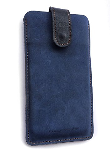 Chalk Factory Genuine Leather Case for LG G4 Shiny Gold 32  GB Mobile Phone  #LP, Blue