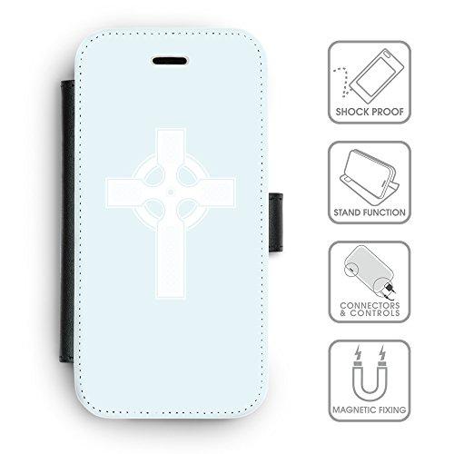GoGoMobile Coque de Protection TPU Silicone Case pour // Q09260613 Croix chrétienne 36 Bleu // Apple iPhone 7 PLUS
