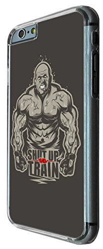 775 - Gym Workout Shut Up Train Design iphone 6 PLUS / iphone 6 PLUS S 5.5'' Coque Fashion Trend Case Coque Protection Cover plastique et métal