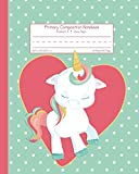 #5: Primary Composition Notebook Grades K-2 Story Paper: Picture Space And Dashed Midline School Exercise Book | 120 Story Pages | Pink Heart (Unicorn Journals)
