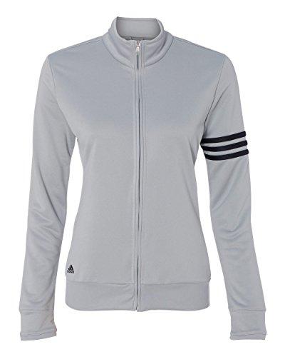 adidas Womens climalite 3-Stripes Pullover A191 -CHROME/ BLAC XL