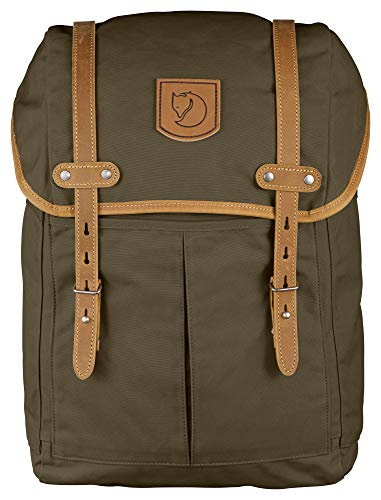 "Fjallraven - Rucksack No. 21 Medium Backpack, Fits 15"" Laptops, Dark Olive"