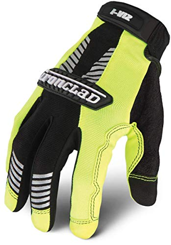 Ironclad Iviz Reflective Gloves - Ironclad IVG2-04-L I-Viz Reflective Green 2 Glove, Large, 1-Pack