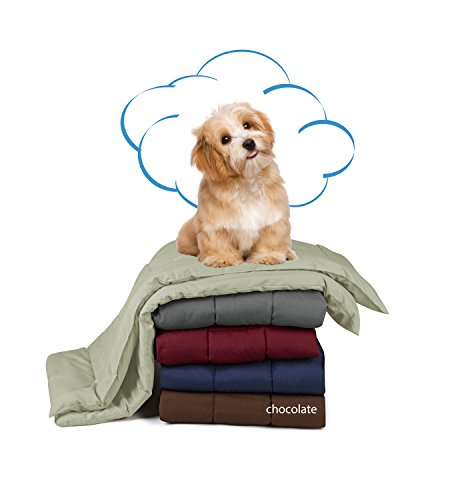 Swift Home® Pet Comforter, Dogs and Cats Blanket and Throw, Perfect for Home, Car, Pet Bed, Crate Pad, in a Pet Carrier, and More. Soft, Lightweight Warmth, Durable, and Washable - Chocolate, S/M