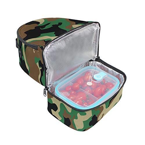 para correa para camuflaje de ajustable doble camuflaje militar picnic almuerzo camuflaje Bolso Sqt8wvSCx