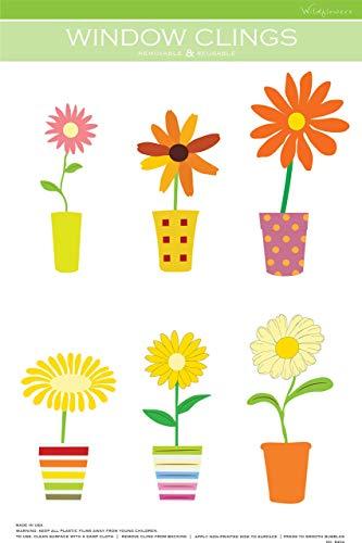 (Flowers in a Pot Window Cling)