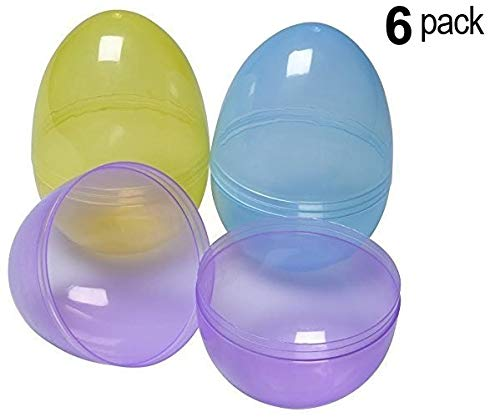 Jumbo 6in Assorted Color Easter Eggs (6 Pack) ()