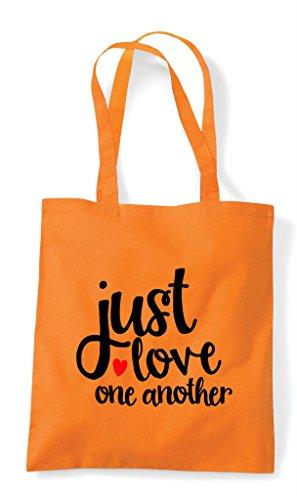 Bag Statement Tote Orange Another One Just Shopper Love TqptnFX