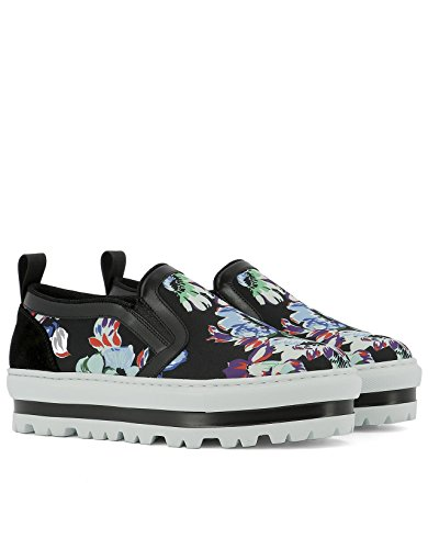 2241MDS08007 On Slip Fabric MSGM Women's Sneakers Multicolor P1X0xBn