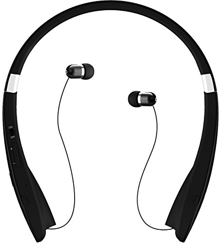 Ipod Hands Free Headphone (GPCT Foldable Wireless Sports Stereo Streamlined Headphone/Headset [Hands Free Calling] Contoured Neckband [Microphone] - iPhone 7/6s/6 iPod Galaxy S7/S6/S5 HTC Smart Windows Android Phones)