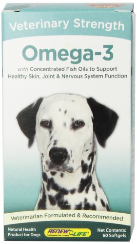 Renew Life Veterinary Strength Omega-3 Gel Capsules, 60 Count