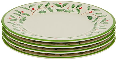 Lenox Holiday Melamine Accent Plates (Set of 4), Ivory