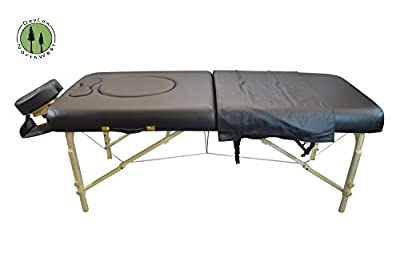 Black Pregnancy Portable Massage Table Reiki & Shiatsu Stomach Recesses