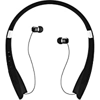 GPCT Foldable Bluetooth/Wireless Sports Stereo Streamlined Headphone/Headset [Hands Free Calling] Contoured Neckband [Microphone] - iPhone 7/6s/6 iPod Galaxy S7/S6/S5 HTC Smart Windows Android Phones