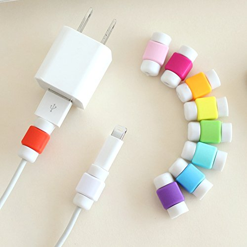 Pack of 8, PAMISO Colorful Data Cable Saver Protector for Apple USB Lightning Cable Iphone Earphones Protector and 30-pin Charging Cables for Ipod / Iphone / Ipad / Apple Watch (16 X Combo)